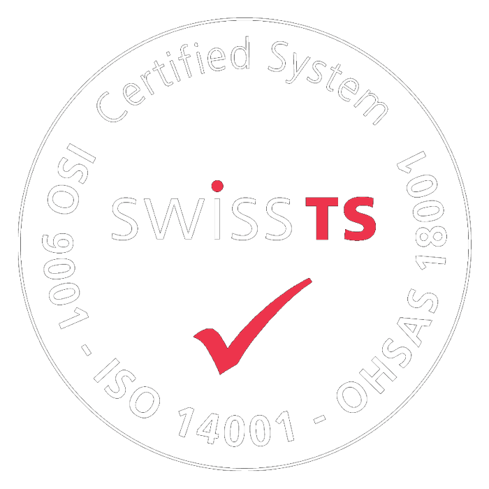 Certified by Swiss TS - ISO 9001 - ISO 14001 - OHSAS 18001